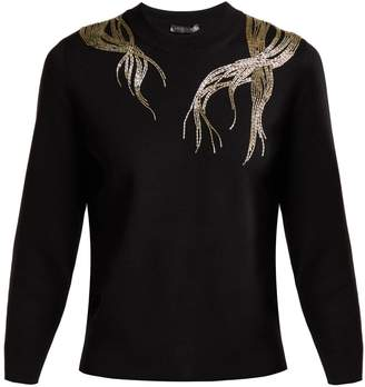 Alexander McQueen Bead-embellished wool sweater