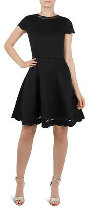 Ted Baker Marlena Scalloped Skater Dress