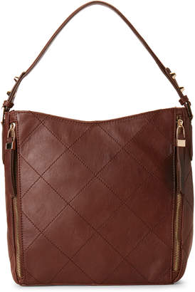 Sondra Roberts Quilted Leather Hobo Bag