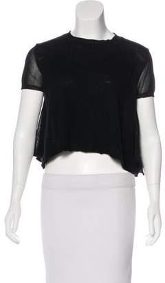 Ter Et Bantine Cashmere-Blend Short Sleeve Top