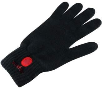 Black Corporate Branded Cashmere Gloves