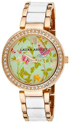 Laura Ashley Women's LA31007WT Analog Display Japanese Quartz Two Tone Watch $59.99 thestylecure.com