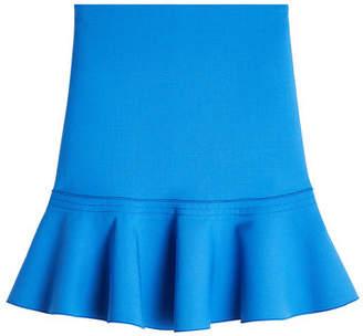 Victoria Beckham Victoria Wool-Blend Skirt with Flutter Hem