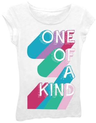 """Freeze Girls' """"One OF A Kind"""" Short Sleeve Graphic T-shirt With Crystalline"""