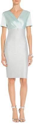 St. John Hansh Sequin Knit V-Neck Dress