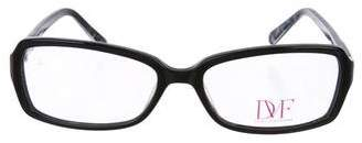 Diane von Furstenberg Square Tortoiseshell Eyeglasses