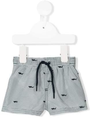 Tartine et Chocolat drawstring striped swim shorts