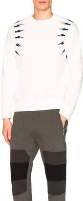 Neil Barrett Fair Isle Thunderbolt Sweatshirt