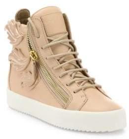 Giuseppe Zanotti Winged Leather Side-Zip Hi-Top Sneakers