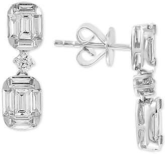 Effy Diamond Baguette Drop Earrings (1-1/5 ct. t.w.) in 14k White Gold