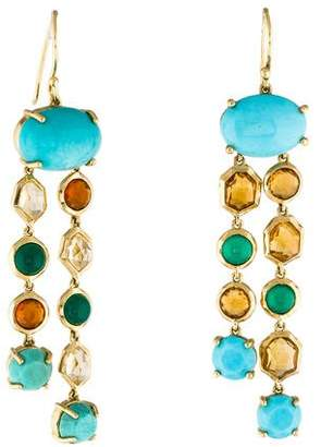 Ippolita 18K Turquoise & Multistone Drop Earrings