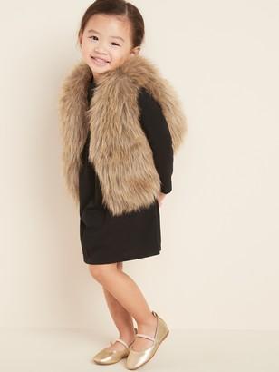 Old Navy Faux-Fur Cropped Vest for Toddler Girls