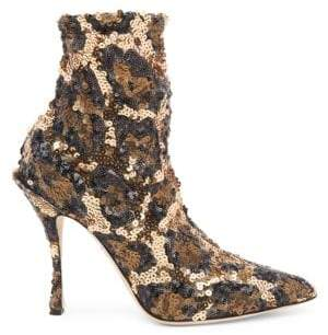Dolce & Gabbana Sequined Leopard Booties