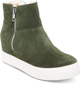Steve Madden Wanda Faux-Fur Wedge Sneakers