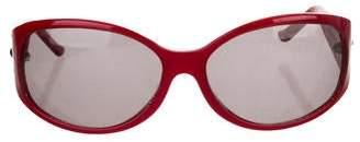 Judith Leiber Embellished Round Sunglasses