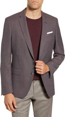 BOSS Hutson Trim Fit Solid Wool Sport Coat