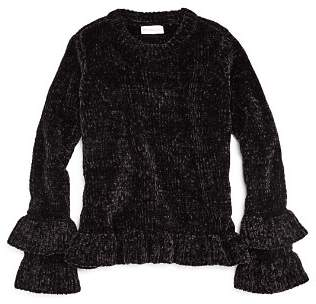 Design History Girls' Bell-Sleeve Chenille Sweater - Big Kid