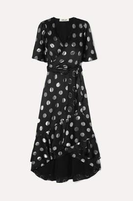 Diane von Furstenberg Sareth Fil Coupé Silk-blend Crepe De Chine Wrap-effect Dress