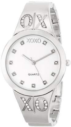 XOXO Women's XO5216 Dial -tone Half Cuff and Half Bracelet Watch