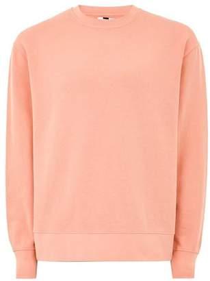 Topman Mens Orange Coral Sweatshirt