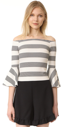 Line & Dot Ella Off the Shoulder Top $66 thestylecure.com