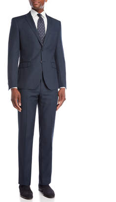 English Laundry Two-Piece Blue Nailhead Wool Suit