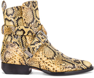Chloé Python Print Rylee Boots in Wheat Yellow | FWRD