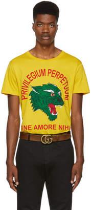 Gucci Yellow Privilegium Perfectuum Panther T-Shirt