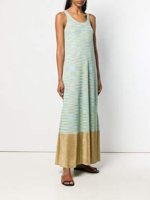 M Missoni contrasting hem maxi dress