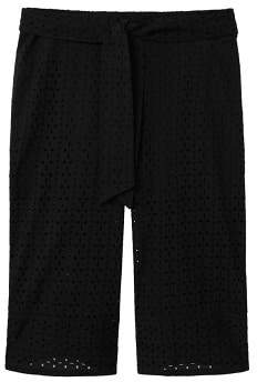 Violeta BY MANGO Openwork crop trousers