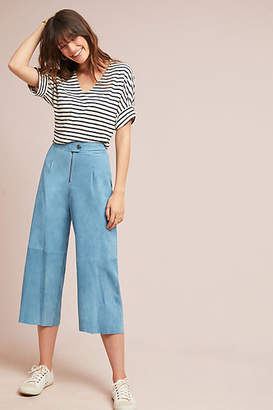 MiH Jeans Caron High-Rise Cropped Wide-Leg Pants