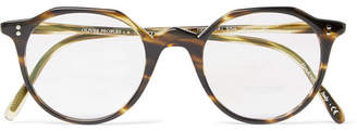 Oliver Peoples OP-L 30th Round-Frame Tortoiseshell Acetate Optical Glasses