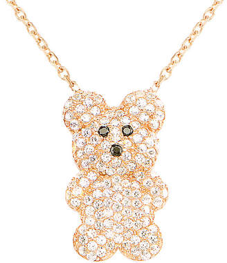 Gabi Rielle Gold Over Silver Cz Bear Pendant Necklace