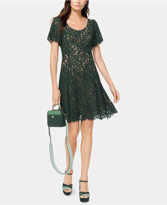 Michael Kors Lace A-Line Dress