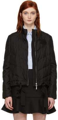Moncler Gamme Rouge Black Silk Down Coat