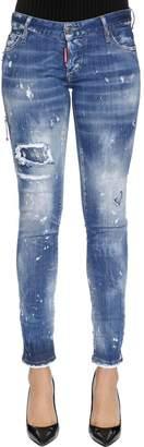 DSQUARED2 Destroyed Cotton Denim Jeans