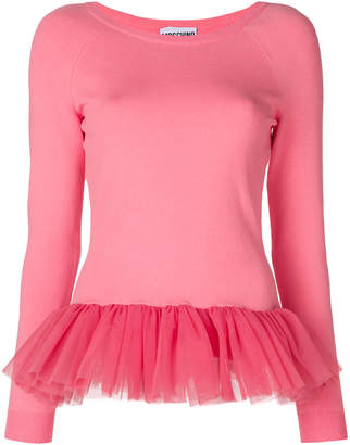 Moschino tulle hem sweater