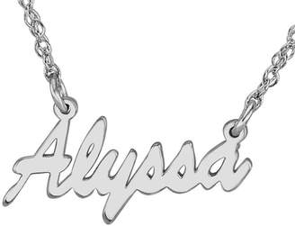 JCPenney FINE JEWELRY Personalized Sterling Silver Name Necklace