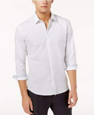 Ryan Seacrest Distinction Ryan Seacrest DistinctionTM Men's Hidden Placket Solid Textured Woven Shirt, Created for Macy's