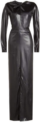 Nina Ricci Faux-Leather Gown
