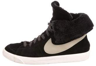 Nike Fold-Over Suede Sneakers