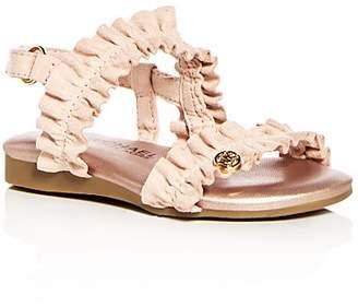 Michael Kors Girls' Frilz Suede Demi Wedge Slingback Sandals - Walker, Toddler, Little Kid