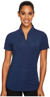 Under Armour Golf Threadborne Mock Polo Shirt Women's Short Sleeve Knit