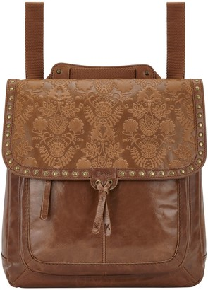 The Sak Ventura Leather Embossed Convertible Backpack