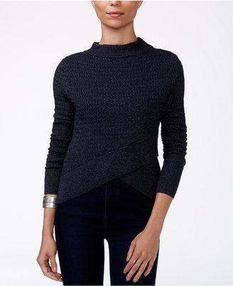 Free People Mock-Neck Boho Wrap Sweater $88 thestylecure.com