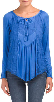 Babydoll Top With Lace Inset