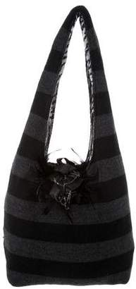 Alice + Olivia Striped Knit Bag