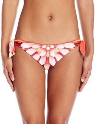 Robin Piccone Women's Arianna Floral Burst Reversible Tie Side Bikini Bottom