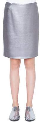 Akris Punto Coated Jersey Mini Skirt