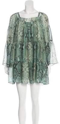Pierre Balmain Silk Printed Dress w/ Tags